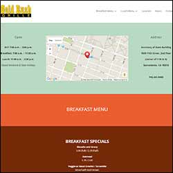 Sacramento Restaurant Website & PR